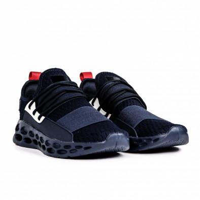 Ανδρικά γαλάζια αθλητικά παπούτσια κάλτσα με λάστιχο it180820-9 3