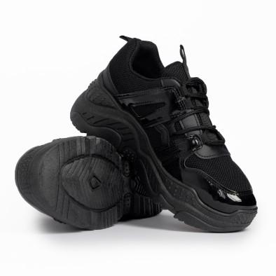 Γυναικεία μαύρα αθλητικά παπούτσια FM it280820-4 4