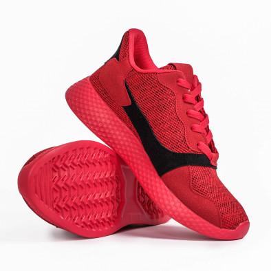 Ανδρικά κόκκινα μελάνζ αθλητικά παπούτσια it180820-2 4