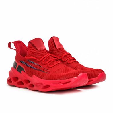 Ανδρικά κόκκινα sneakers Chevron it090321-3 3