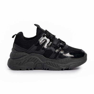 Γυναικεία μαύρα αθλητικά παπούτσια FM it280820-4 2