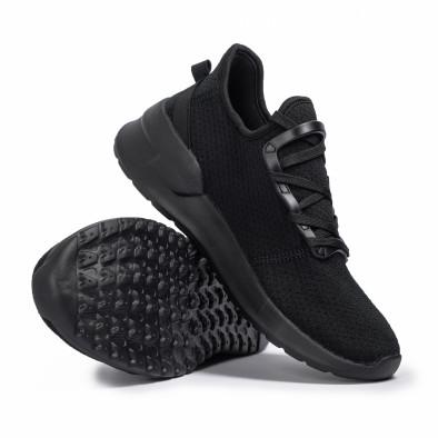 Ανδρικά μαύρα sneakers κάλτσα Lace detail it260620-9 4