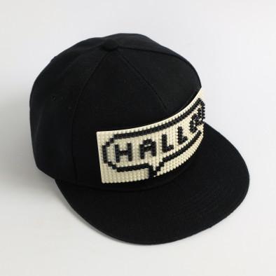 Ανδρικό μαύρο καπέλα FM it080520-83 2