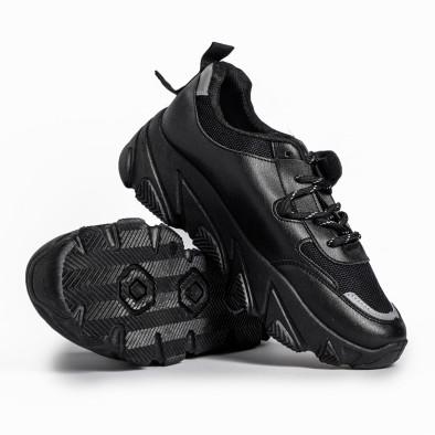 Γυναικεία μαύρα αθλητικά παπούτσια FM it280820-12 4