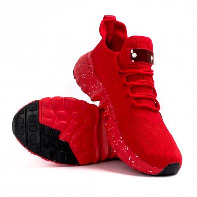 Ανδρικά κόκκινα αθλητικά παπούτσια Kiss GoGo it180621-3 4