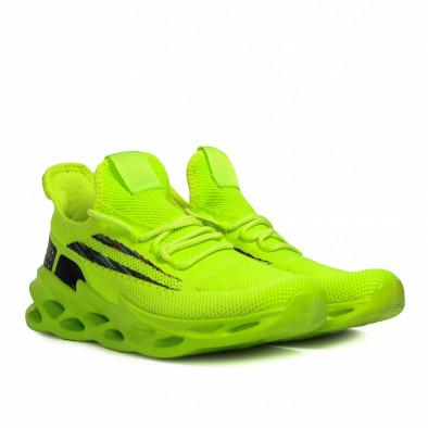 Ανδρικά πράσινα sneakers Chevron it090321-1 3