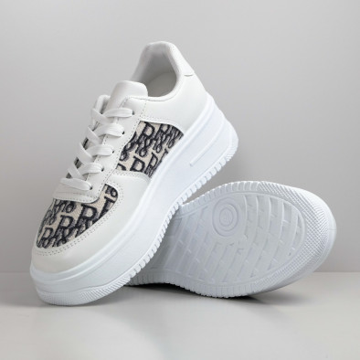 Γυναικεία λευκά sneakers με πλατφορμα it110221-4 5