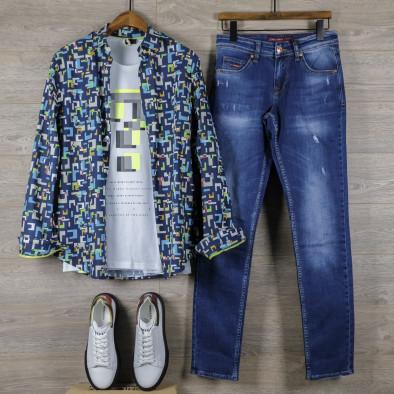 Ανδρικό πολύχρωμο πουκάμισο Open tr110320-97 5