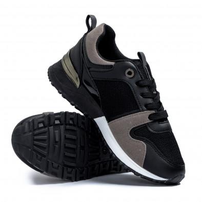 Γυναικεία  sneakers σε μαύρο και γκρι it110221-1 4
