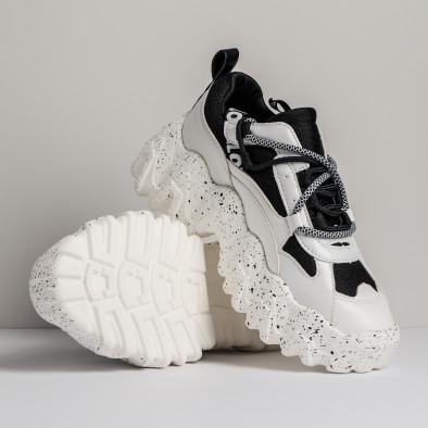 Sneakers Ultra Sole σε λευκό και μαύρο it280820-22 4