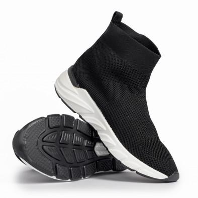 Γυναικεία μαύρα ψηλά sneakers καλτσάκι it250119-59 4