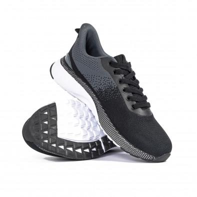 Ανδρικά αθλητικά παπούτσια σε μαύρο και γκρι it270320-18 4