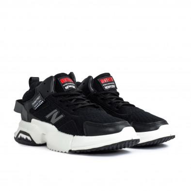 Ανδρικά μαύρα sneakers gr270421-31 3