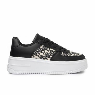 Γυναικεία μαύρα sneakers με πλατφορμα it110221-3 2