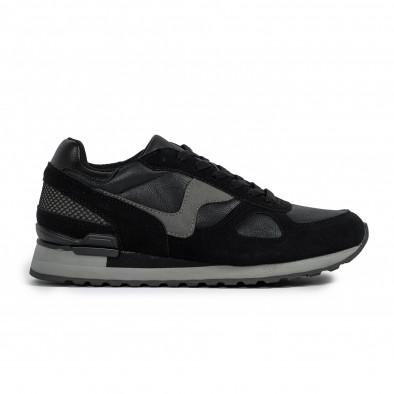 Ανδρικά μαύρα αθλητικά παπούτσια Flair it300920-53 2