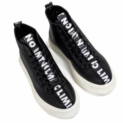 Ανδρικά ψηλά μαύρα sneakers tr181120-3 2