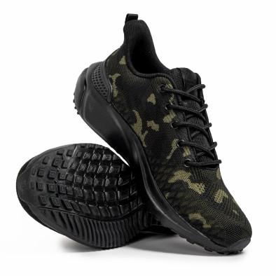 Ανδρικά καμουφλαζ sneakers σε υφή it090321-4 4