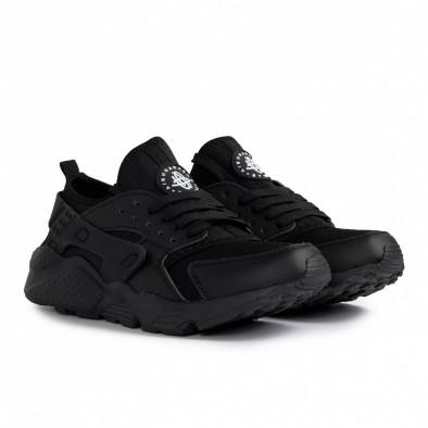 Ανδρικά μαύρα sneakers Plus Size gr020221-16 4