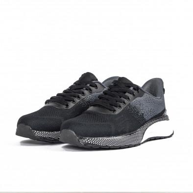 Ανδρικά αθλητικά παπούτσια σε μαύρο και γκρι it270320-18 3
