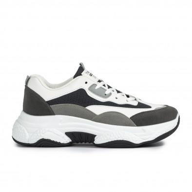 Ανδρικά γκρι αθλητικά παπούτσια Chunky it300920-55 2