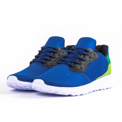 Ανδρικά γαλάζια αθλητικά παπούτσια Kiss GoGo it260520-4 3