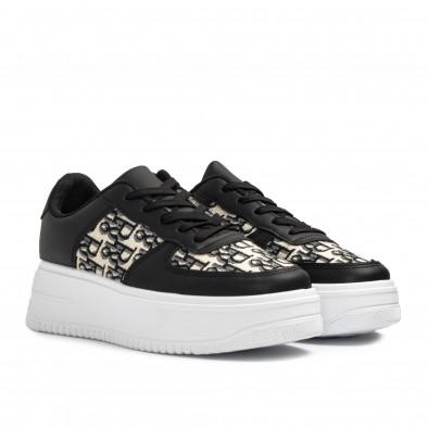 Γυναικεία μαύρα sneakers με πλατφορμα it110221-3 3