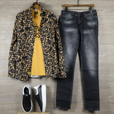 Ανδρικό πολύχρωμο πουκάμισο Open tr110320-96 4