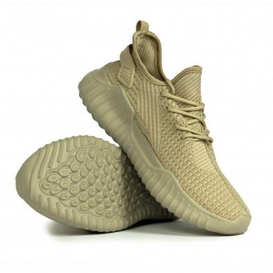 Ανδρικά ελαστικά μπεζ αθλητικά παπούτσια it180820-7 4