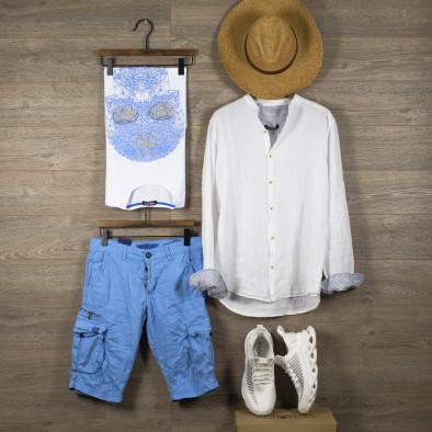 Ανδρικό λευκό πουκάμισο RNT23 tr110320-90 5