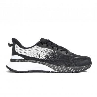 Ανδρικά αθλητικά παπούτσια σε μαύρο και λευκό  it270320-19 2
