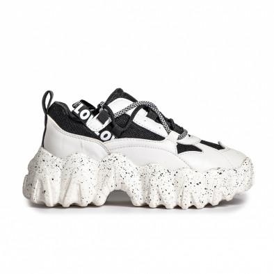Sneakers Ultra Sole σε λευκό και μαύρο it280820-22 2