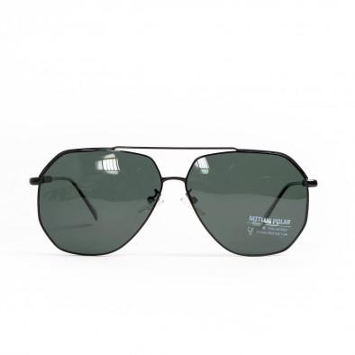 Ανδρικά μαύρα γυαλιά ηλίου hexagonal il200521-20 3