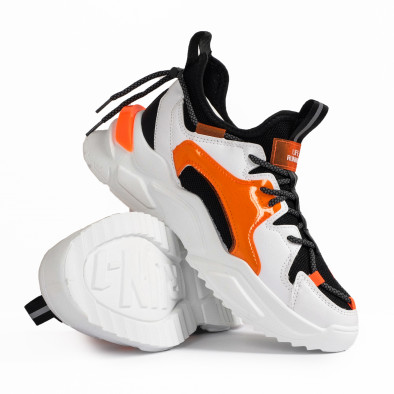 Chunky ανδρικά πορτοκαλιά sneakers gr020221-13 5