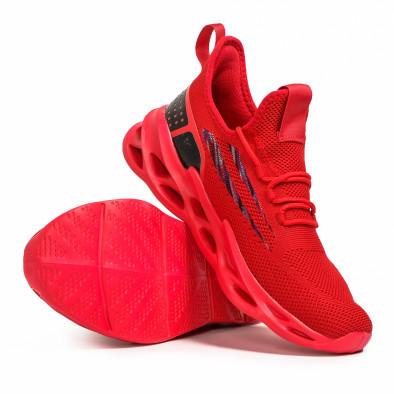 Ανδρικά κόκκινα sneakers Chevron it090321-3 4