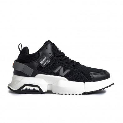 Ανδρικά μαύρα sneakers gr270421-31 2