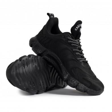 Ανδρικά μαύρα sneakers Plus Size gr020221-17 5