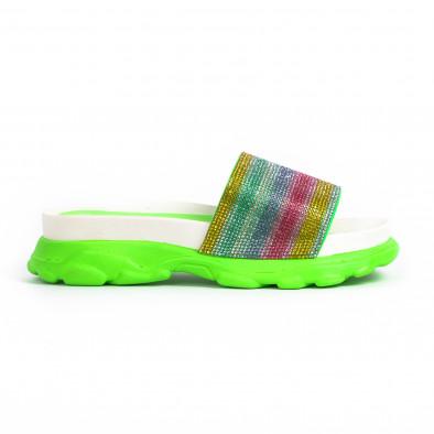 Γυναικείες σαγιονάρες Rainbow Chunky φωσφοριζέ it030620-5 2