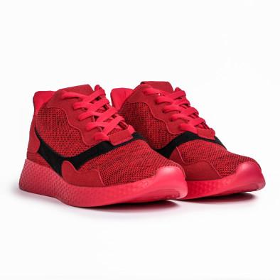 Ανδρικά κόκκινα μελάνζ αθλητικά παπούτσια it180820-2 3