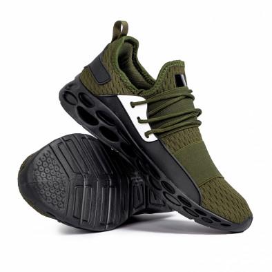 Ανδρικά πράσινα αθλητικά παπούτσια κάλτσα με λάστιχο it180820-4 4