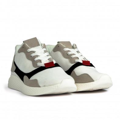 Ανδρικά λευκά αθλητικά παπούτσια it180820-5 3