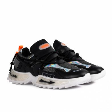 Chunky ανδρικά μαύρα sneakers gr020221-12 4