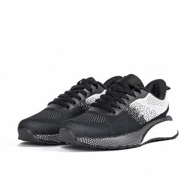 Ανδρικά αθλητικά παπούτσια σε μαύρο και λευκό  it270320-19 3