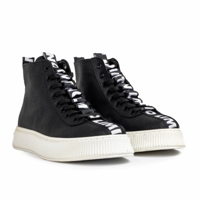 Ανδρικά ψηλά μαύρα sneakers tr181120-3 4