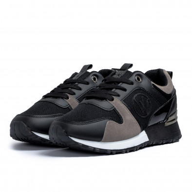 Γυναικεία  sneakers σε μαύρο και γκρι it110221-1 3