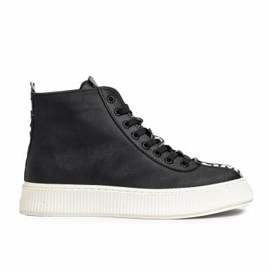 Ανδρικά ψηλά μαύρα sneakers tr181120-3 3