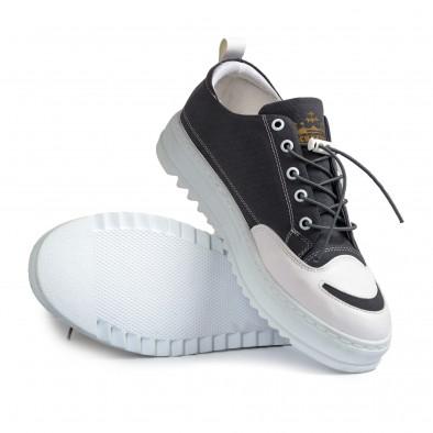 Ανδρικά γκρι πάνινα παπούτσια tr210721-2 4