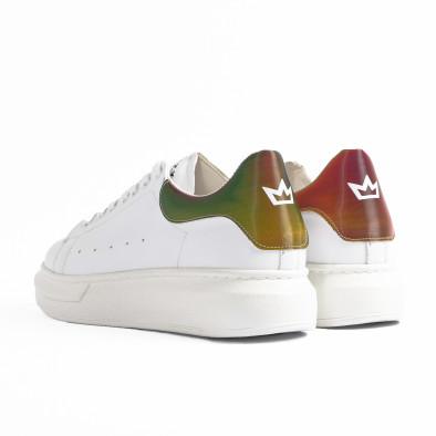 Ανδρικά λευκά sneakers με χοντρή σόλα tr300420-1 5