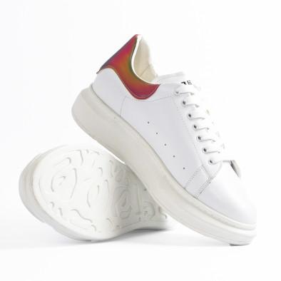 Ανδρικά λευκά sneakers με χοντρή σόλα tr300420-1 6
