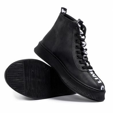 Ανδρικά ψηλά μαύρα sneakers tr181120-2 4