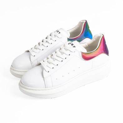 Ανδρικά λευκά sneakers με χοντρή σόλα tr300420-1 4